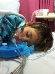 Evie after port replacement (due to infection)
